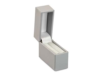 Grey Soft Touch Postal Ring Box