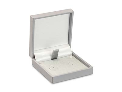 Grey Soft Touch Postal Earrings Box