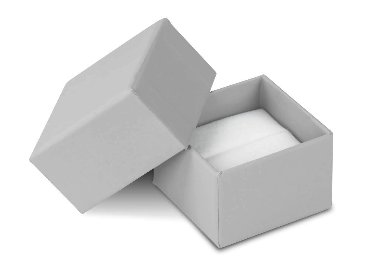 Grey Card Soft Touch Ring Box