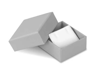 Grey Card Soft Touch Stud Earring Box
