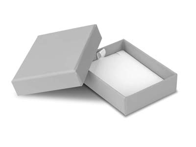 Grey Card Soft Touch Pendant Box