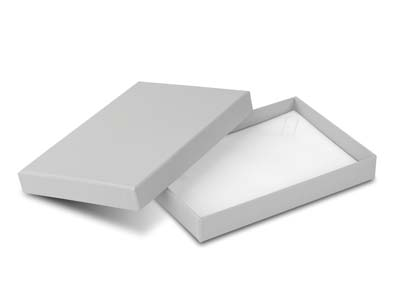 Grey Card Soft Touch Necklace Box