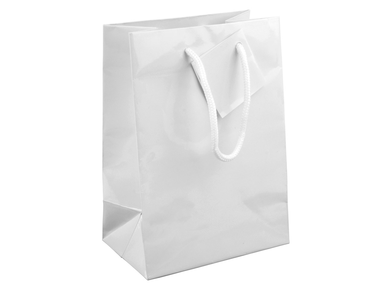 White Gloss Gift Bag, Small        Pack of 5 170x120x75mm
