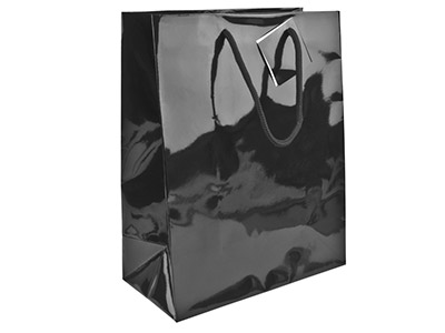 Black Gloss Gift Bag Small        Pack of 5 170x120x75mm