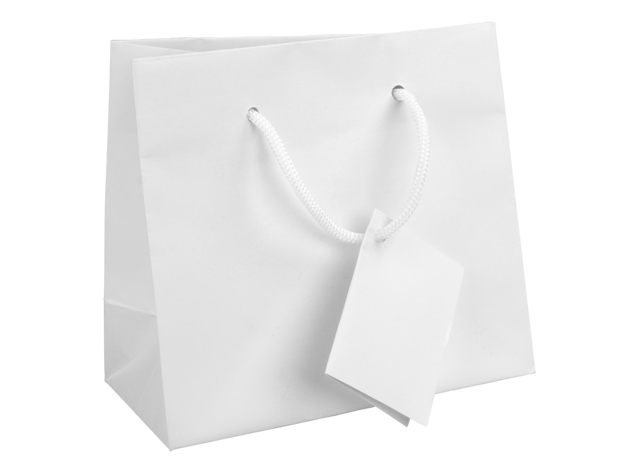White Matt Gift Bag Small