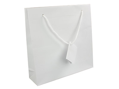 White Matt Gift Bag Large