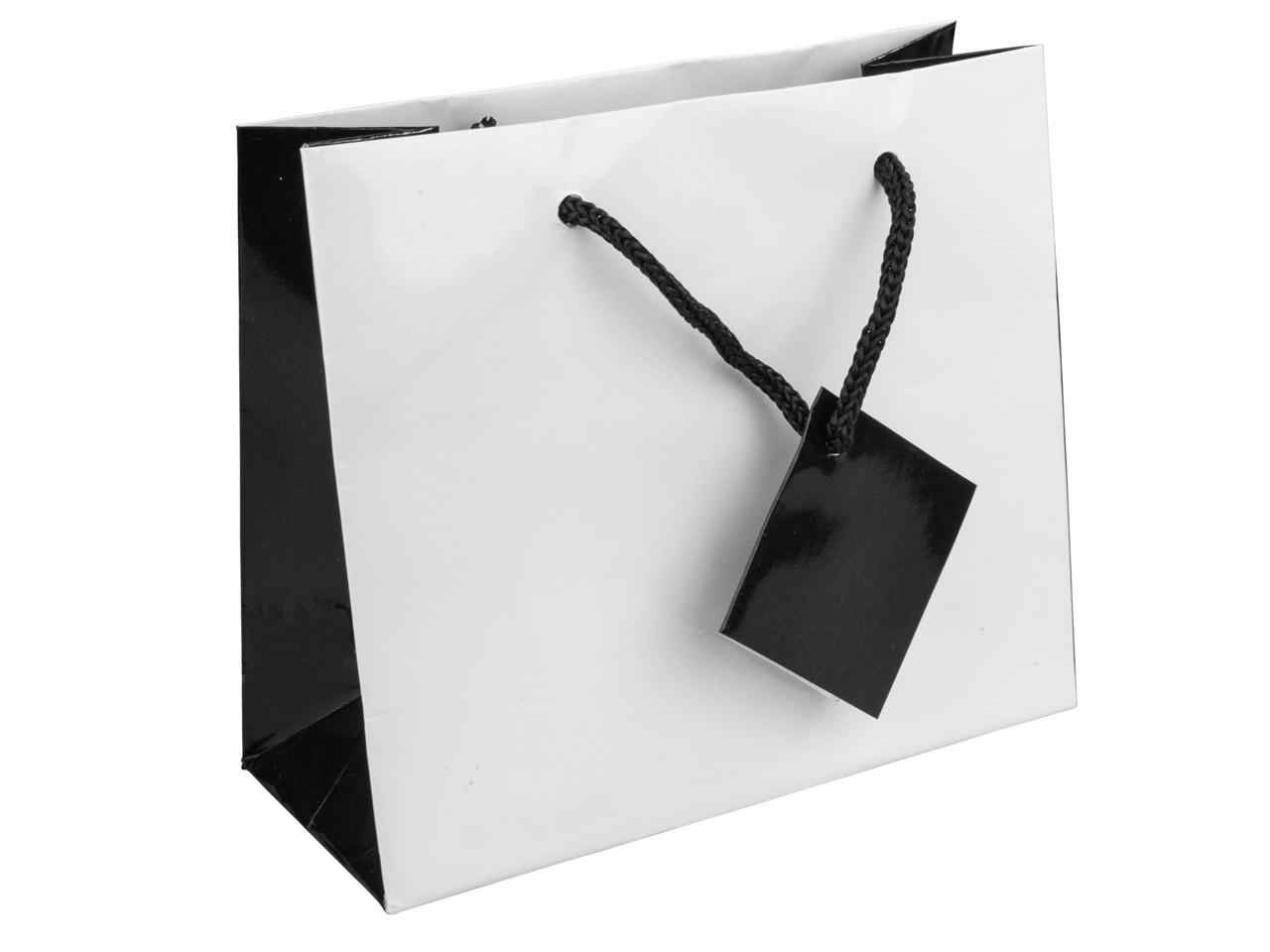 White Monochrome Gift Bag Small