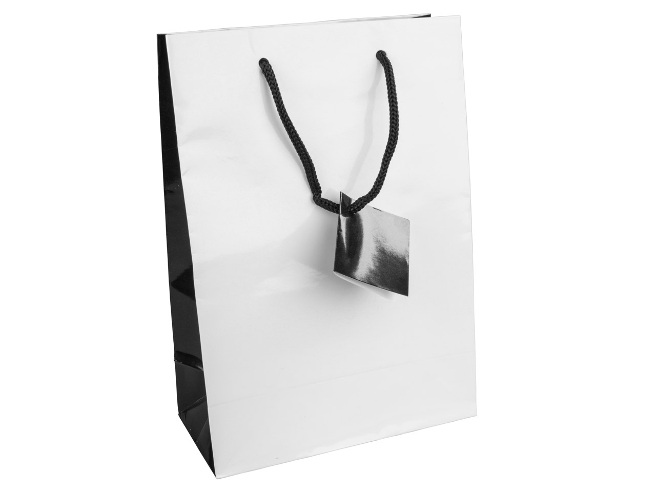 White Monochrome Gift Bag Medium