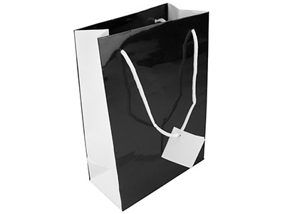 Black Monochrome Gift Bag Medium