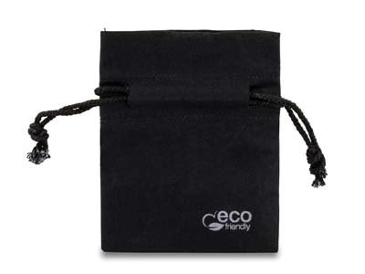 Fairtrade Cotton Jewellery Pouch   Mini Black