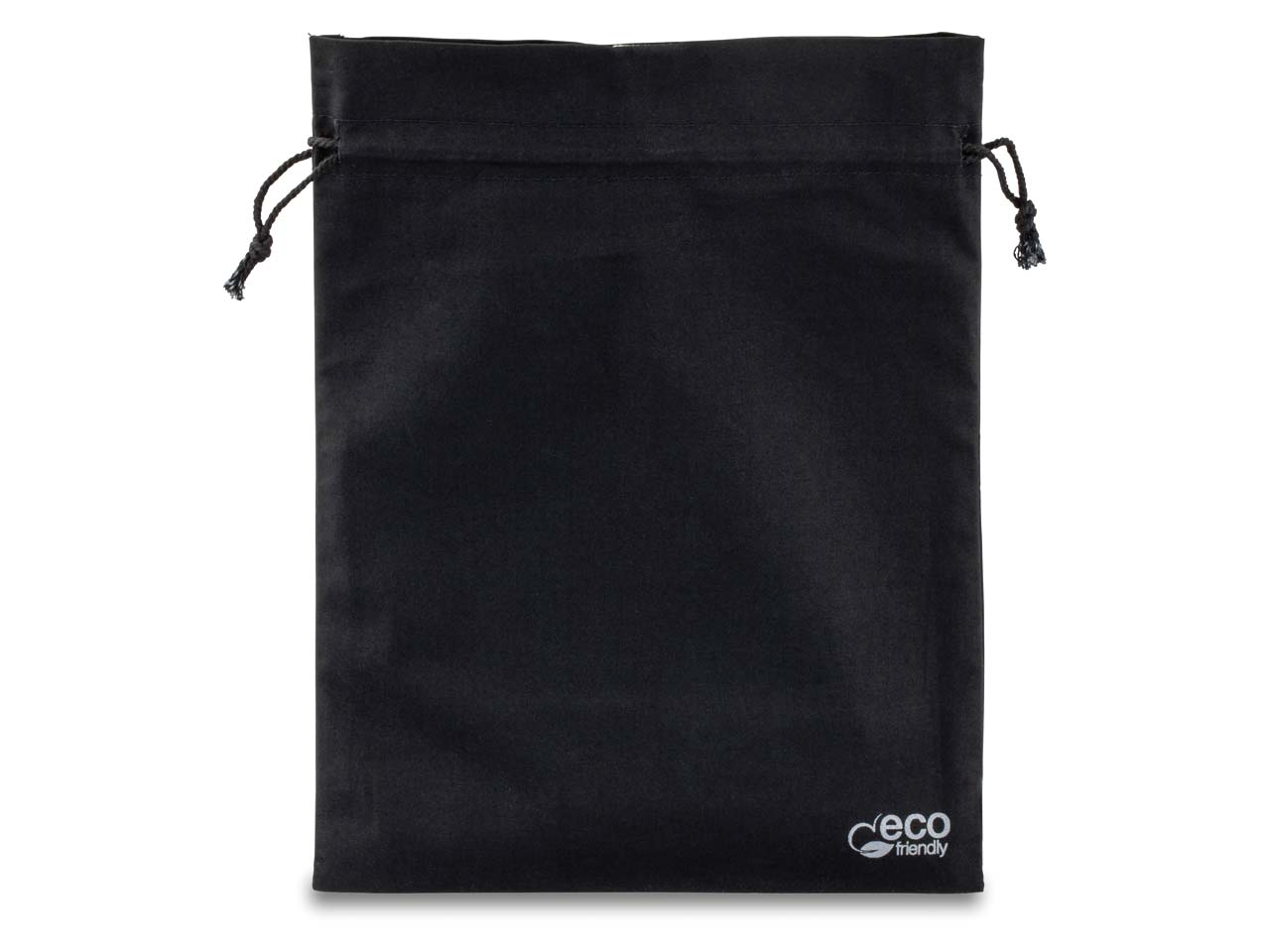 Fairtrade Cotton Jewellery Pouch   Large Black