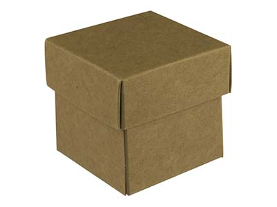 Kraft Flat Pack Square Box         Pack of 10