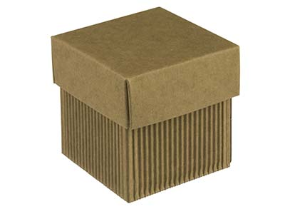 Kraft Flat Pack Square Box         Corrugated Pack of 10