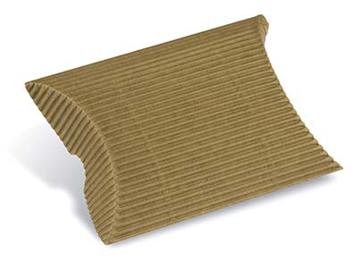 Kraft Flat Pack Pillow Box         Corrugated Pack of 10