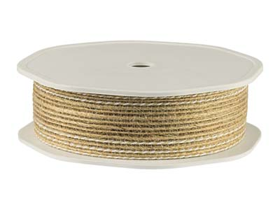 Jute Ribbon Natural 25mm X 10m