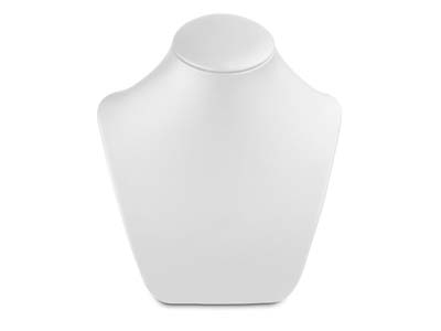 White Leatherette Medium Neck Stand