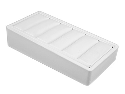 White Leatherette Display Wedge    Stand