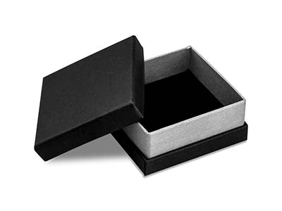 Black And Silver Metallic Small    Universal Box