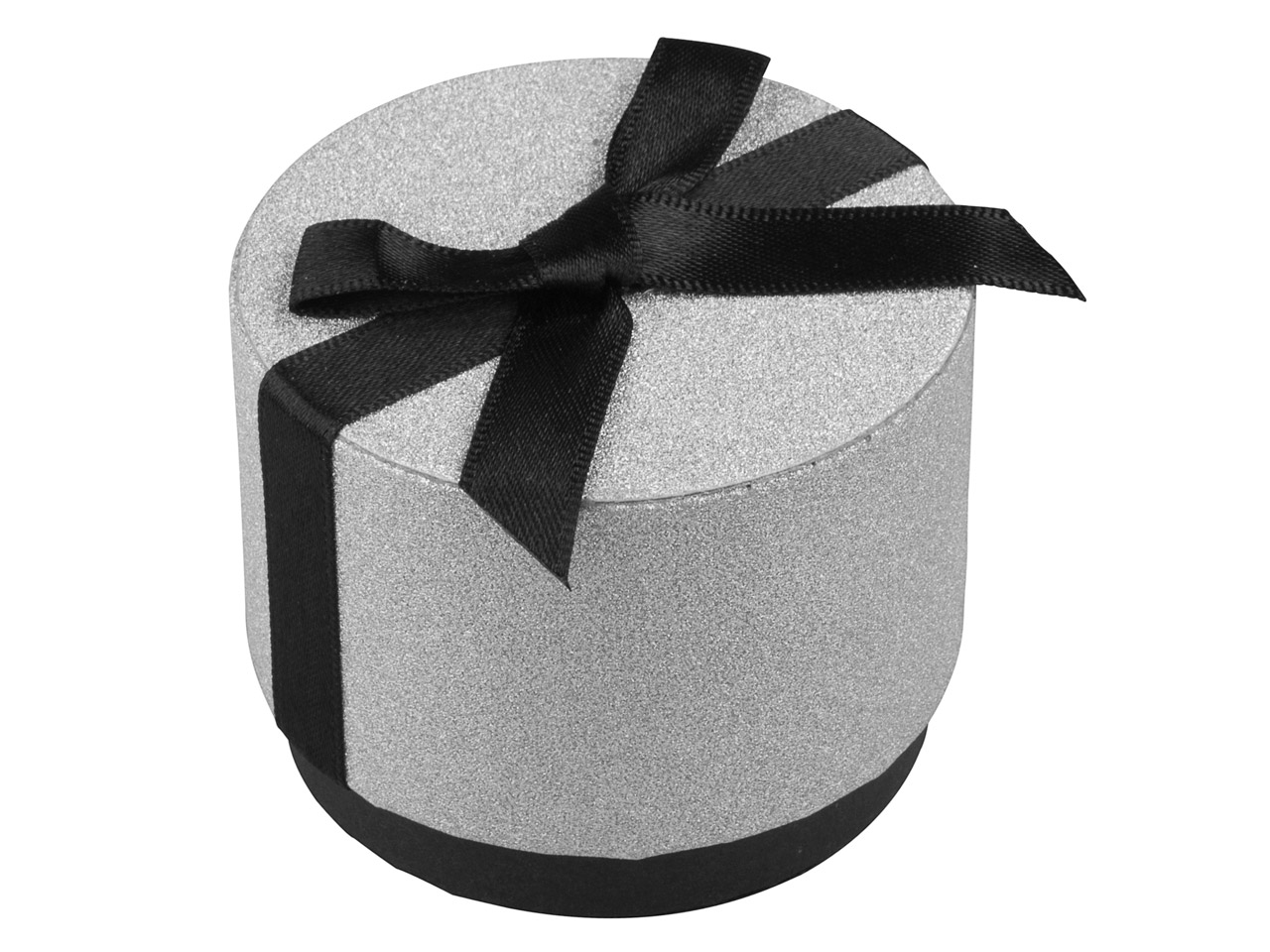 Round Small Universal Gift Box With Bow