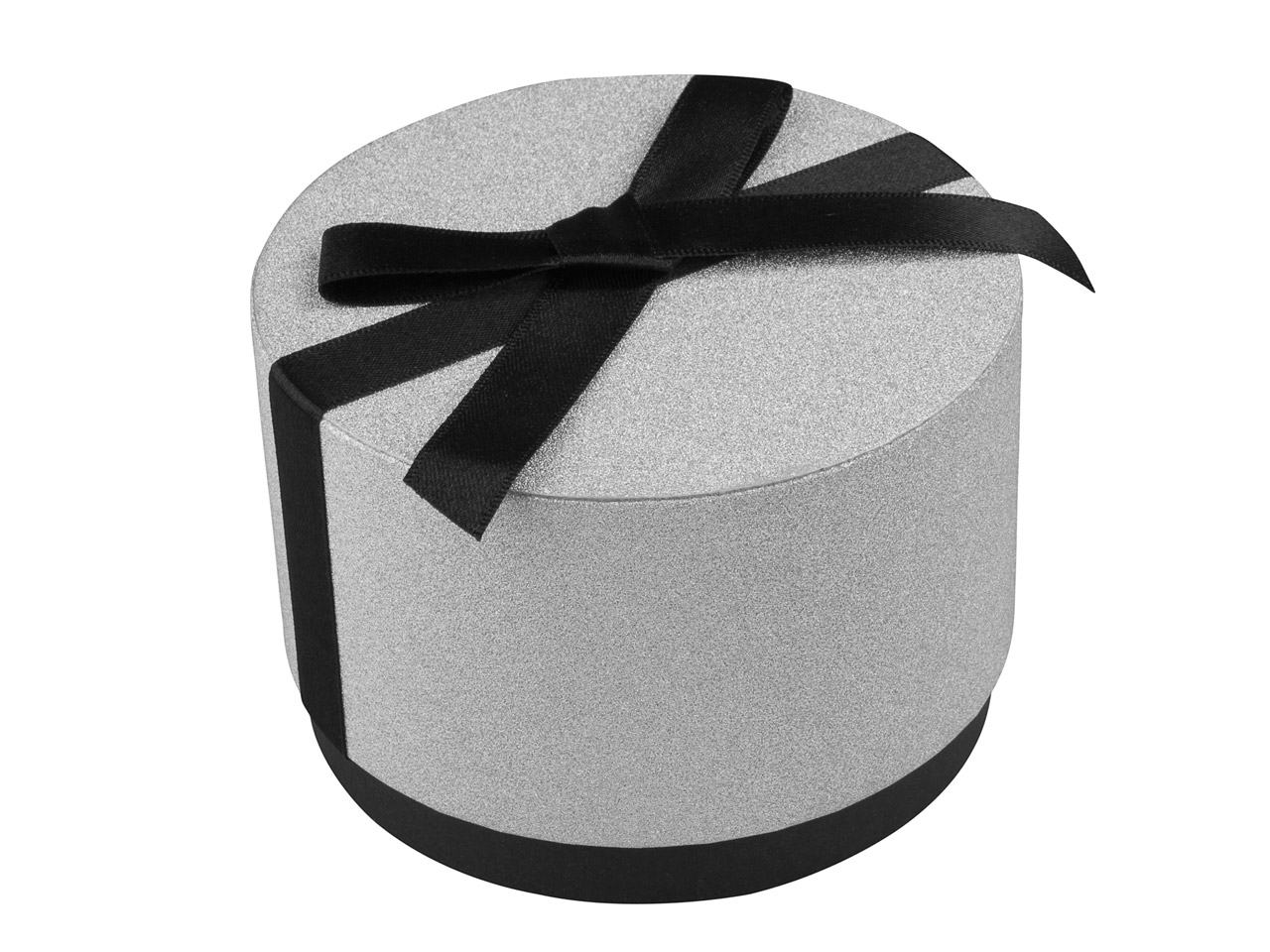 Round Large Universal Gift Box With Bow