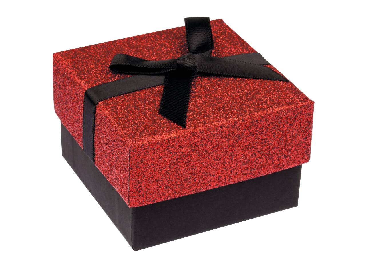 Red Glitter Medium Universal Gift  Box With Bow