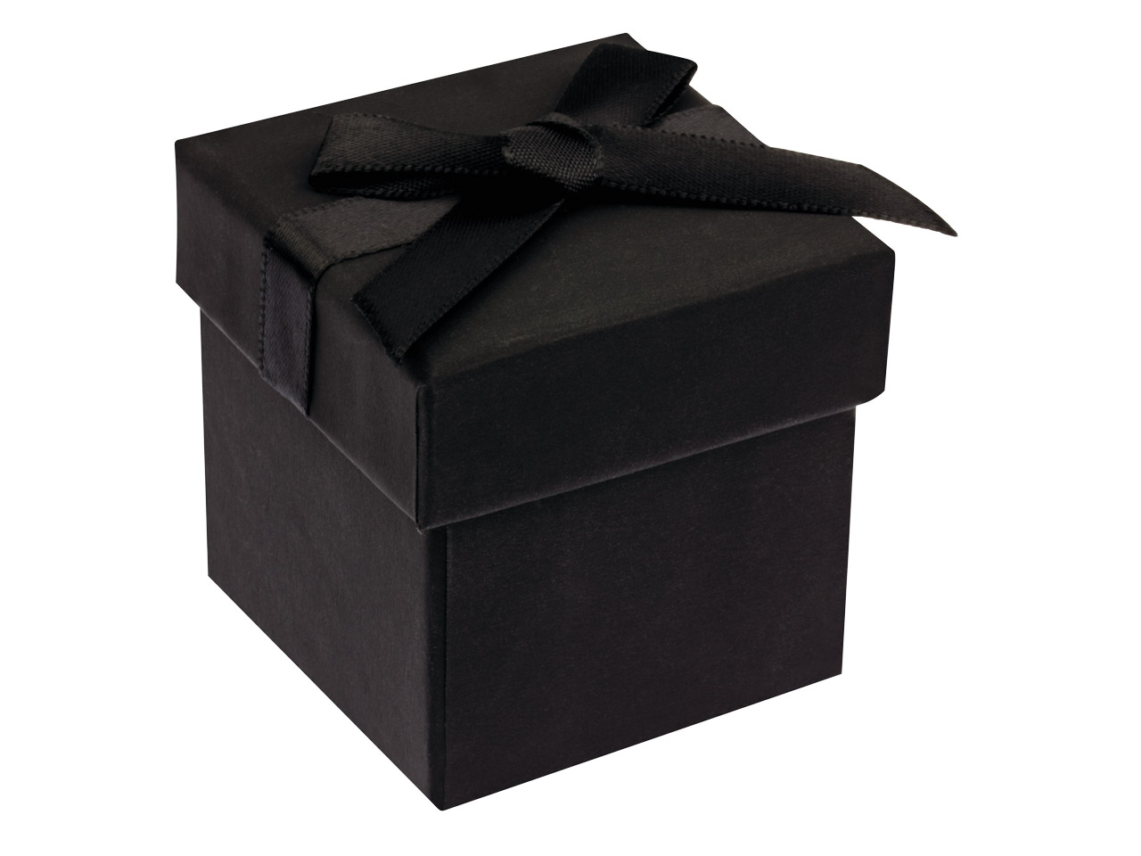 Black Soft Touch Ring Box With Bow