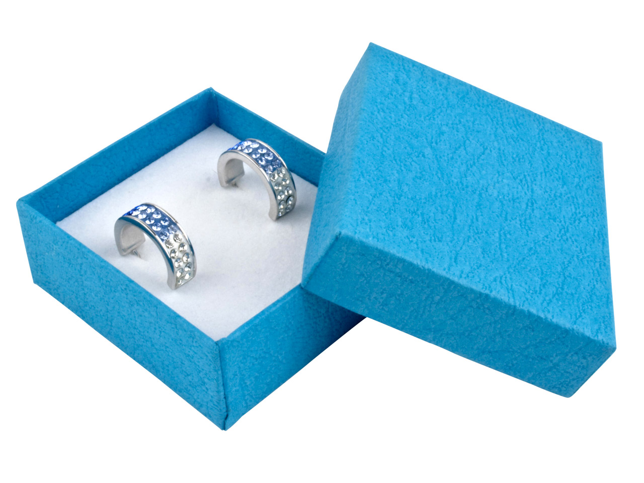 Blue Textured Card Earring Box