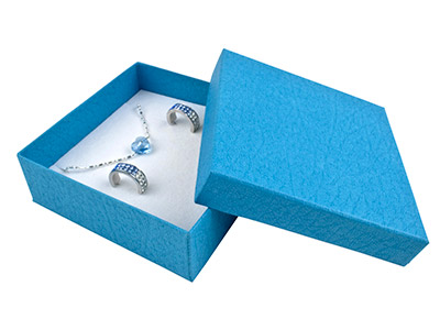 Blue Textured Card Universal Box