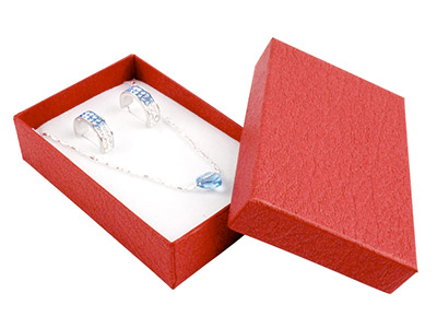 Red Textured Card Pendant Box