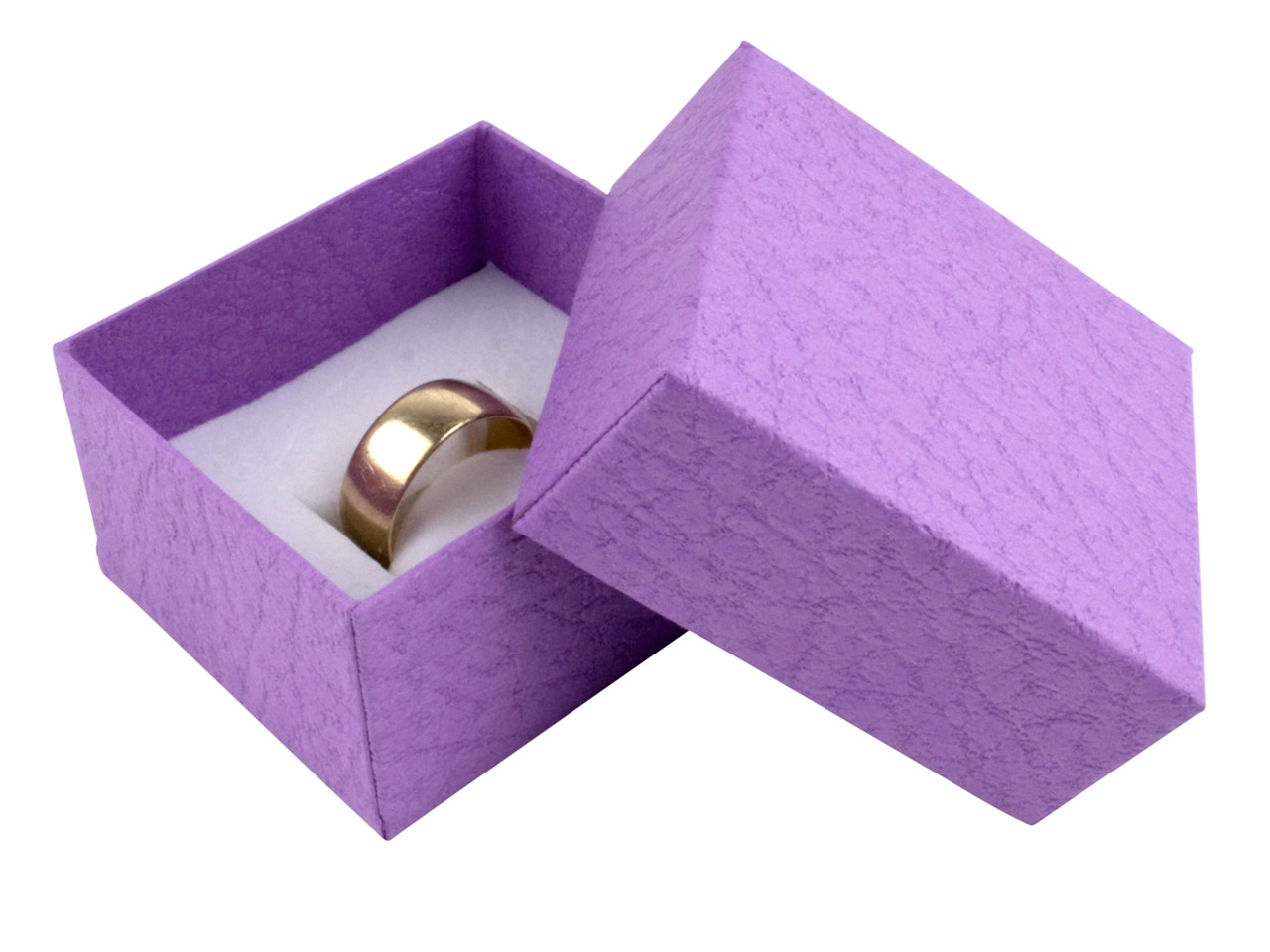 Purple Textured Card Ring Box