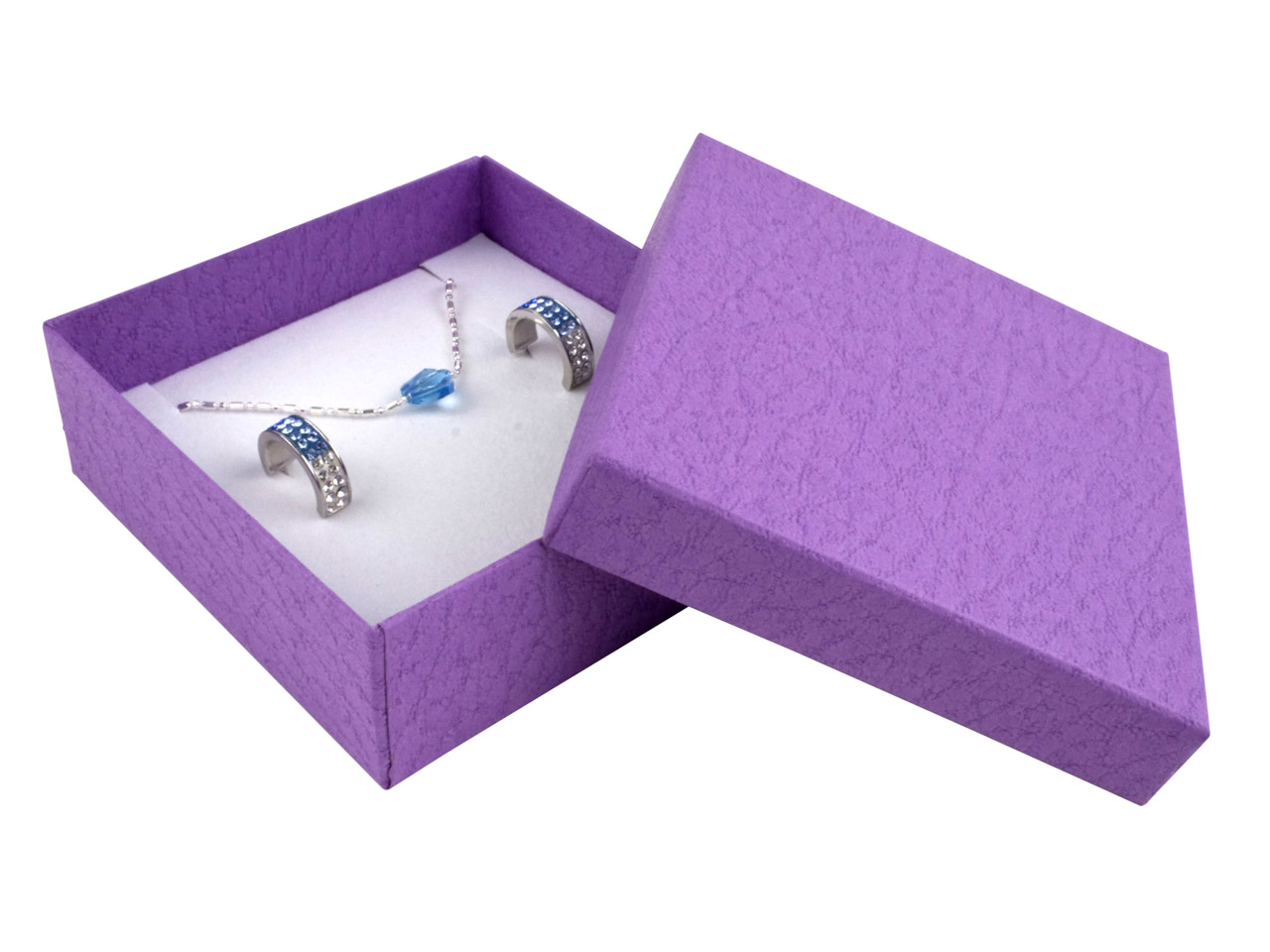 Purple Textured Card Universal Box