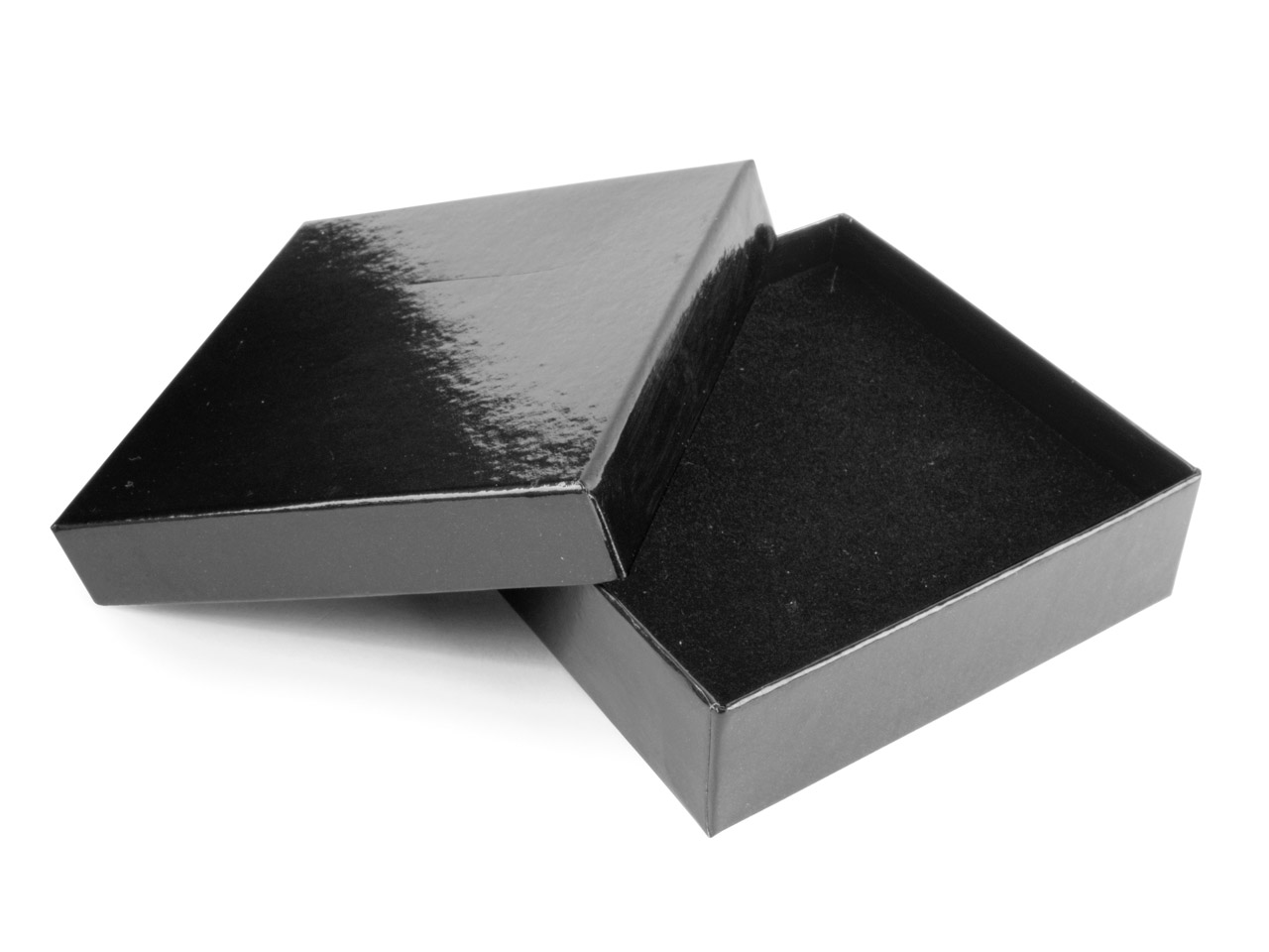 Black Gloss Card Universal Box With Interchangeable Black And White     Interior