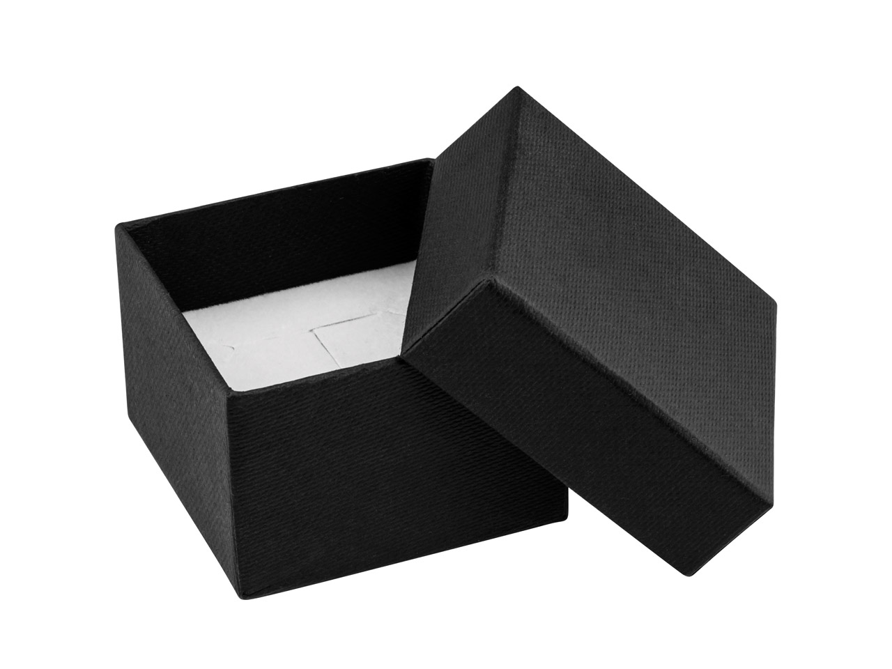 Black Textured Card Ring Box