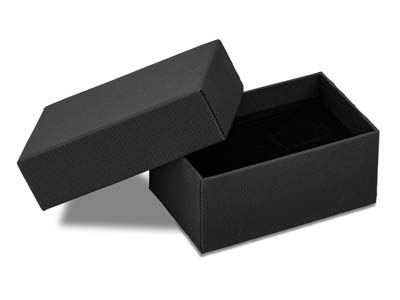 Black Matt Card Cufflink Box