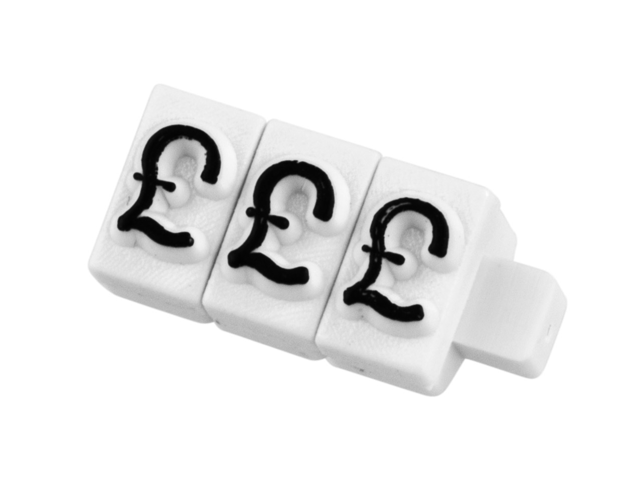 Pricing Block Cube Pack of 100, £  Set White And Black Small Font