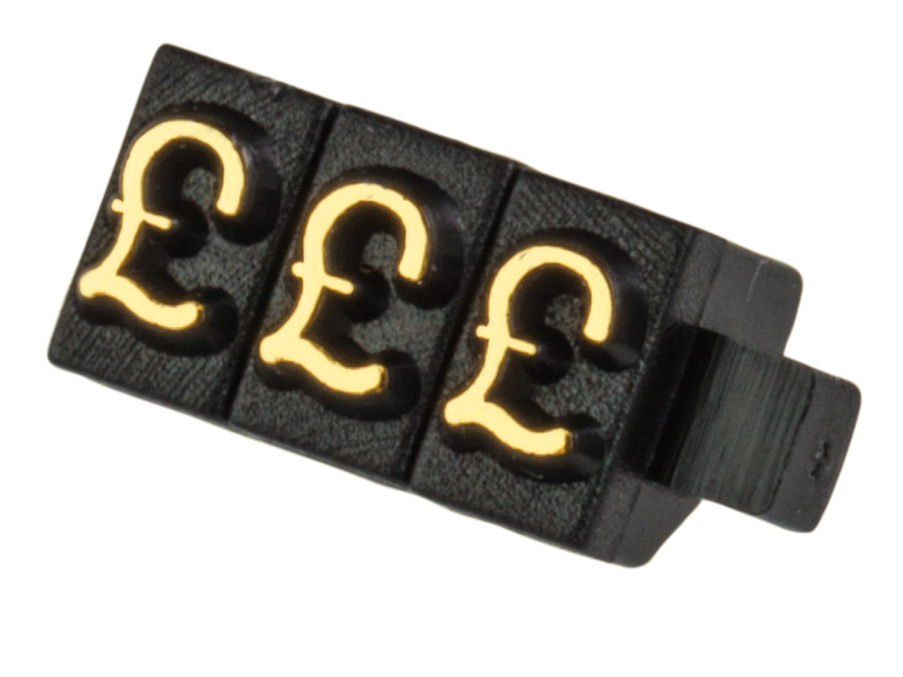 Pricing Block Cube Pack of 100, £  Set Black And Gold Small Font