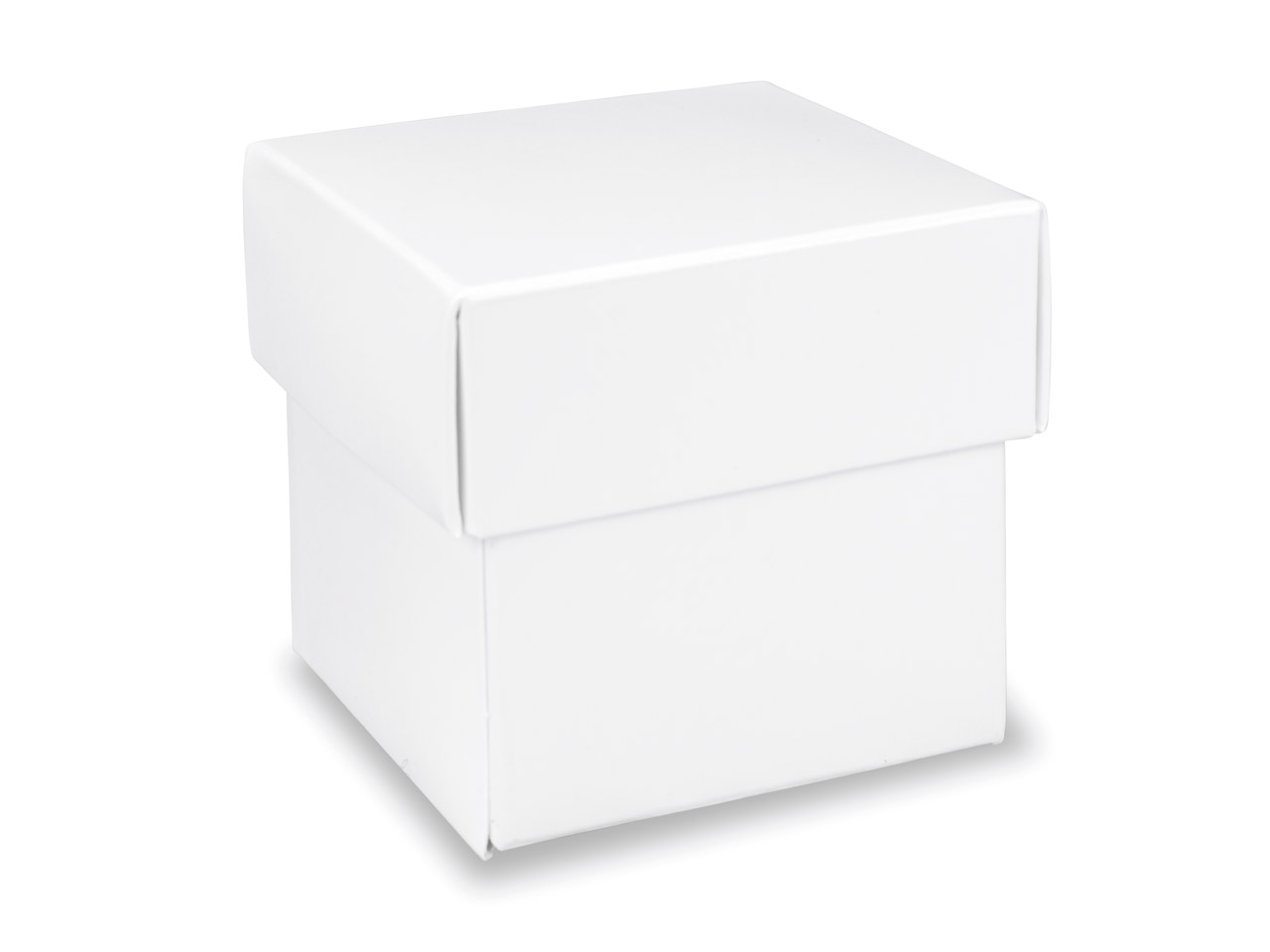 Flat Pack Square Box Gloss White   Pack of 10