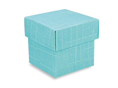 Flat Pack Square Box Turquoise Pack of 10