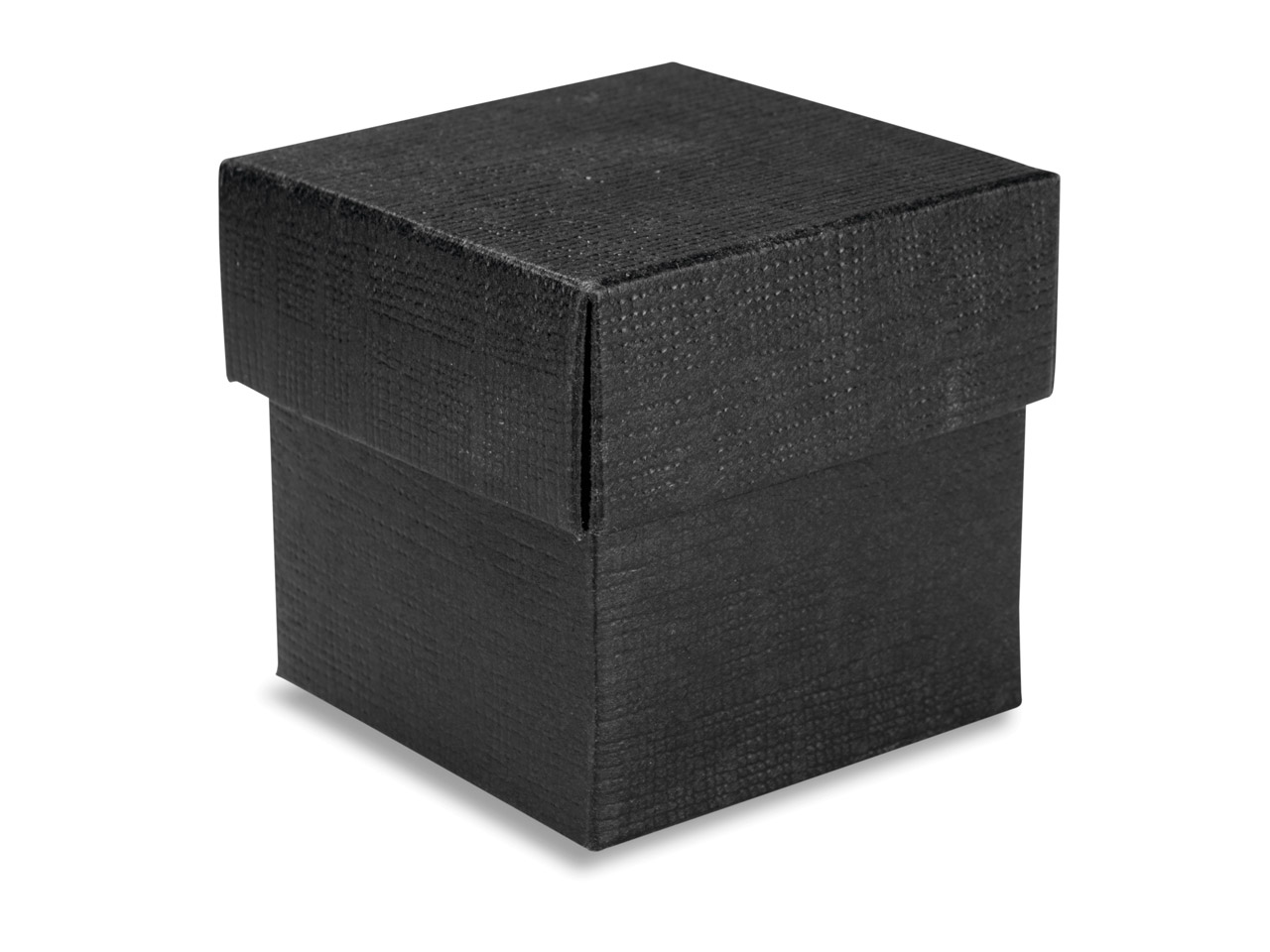 Flat Pack Square Box Black         Pack of 10