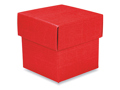 Flat Pack Square Box Red Pack of 10