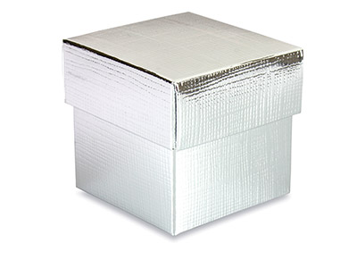 Flat Pack Square Box Silver        Pack of 10
