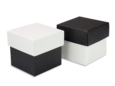 Flat Pack Square Box 2 Tone Black And White