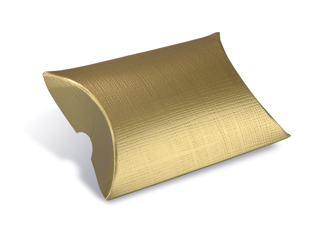 Flat Pack Pillow Box Gold          Pack of 10