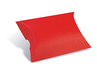 Flat Pack Pillow Box Red Pack of 10
