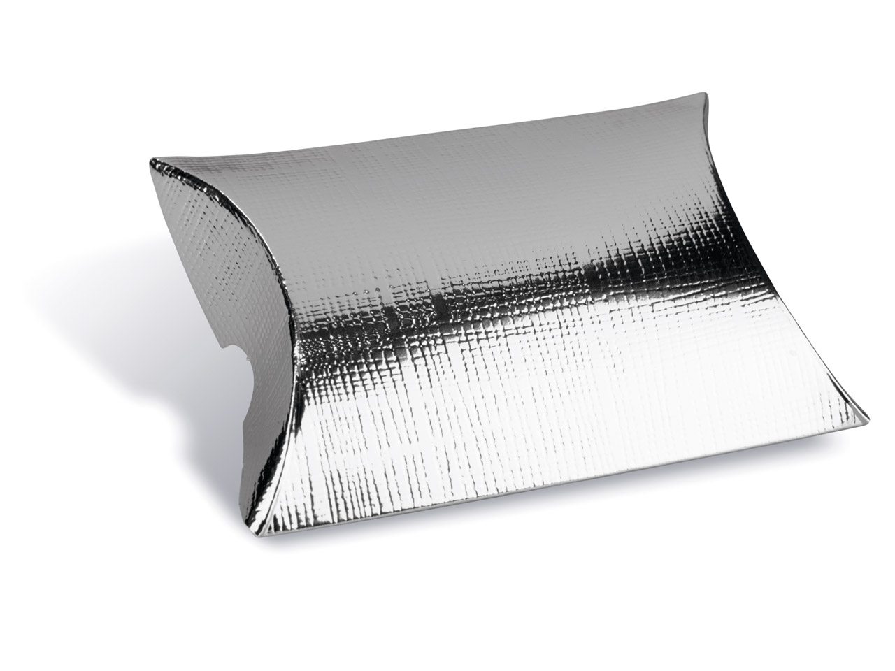 Flat Pack Pillow Box Silver        Pack of 10