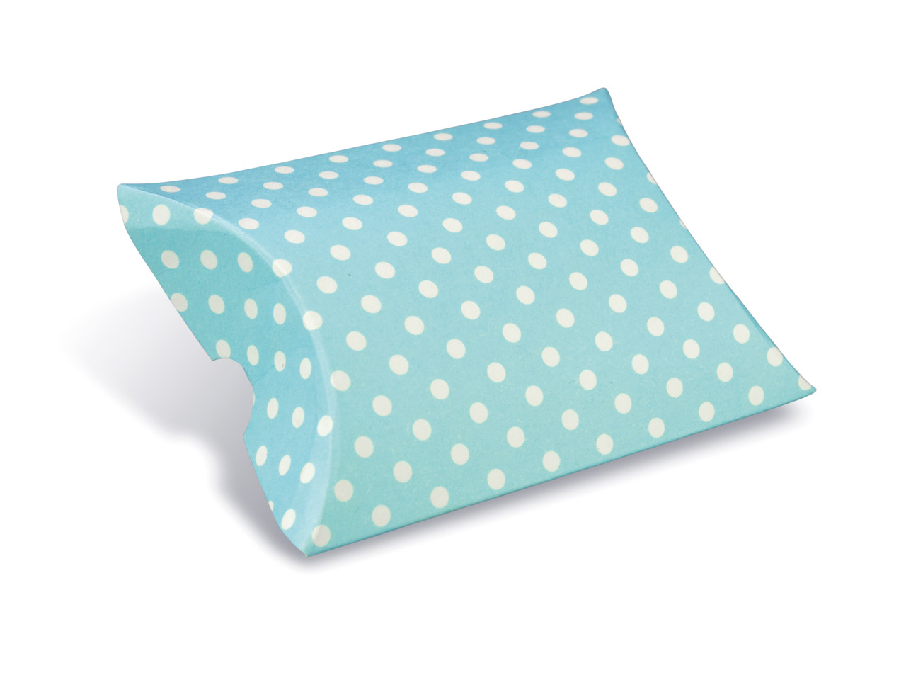 Flat Pack Pillow Box Blue Polka Dot Pack of 10