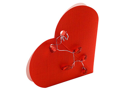 Flat Pack Red Heart Box Small Pack of 10