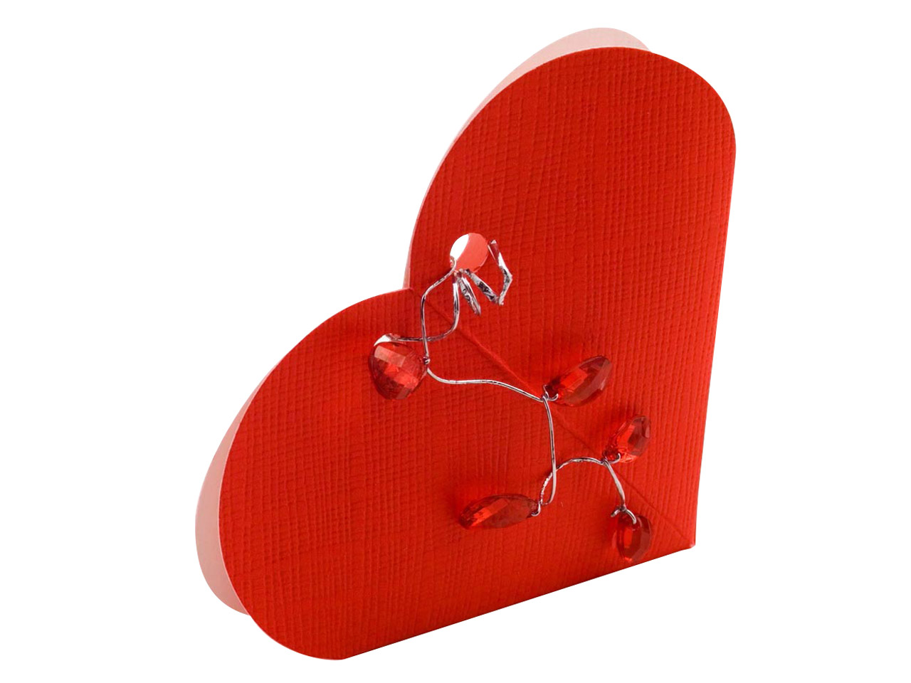 Flat Pack Red Heart Box Large      Pack of 10