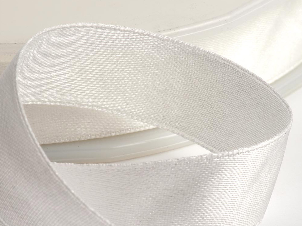 Satin Ribbon 6mm Ivory 25m