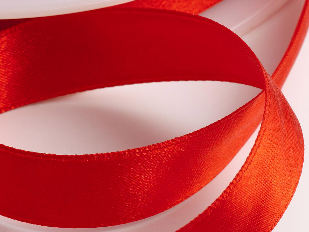 Satin Ribbon 3mm Red 50m